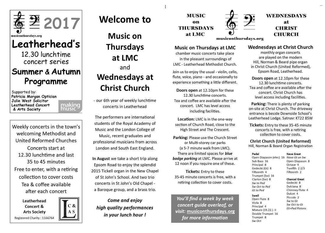 MoT/WaCC 2017 Lunchtime Chamber Concert Programme