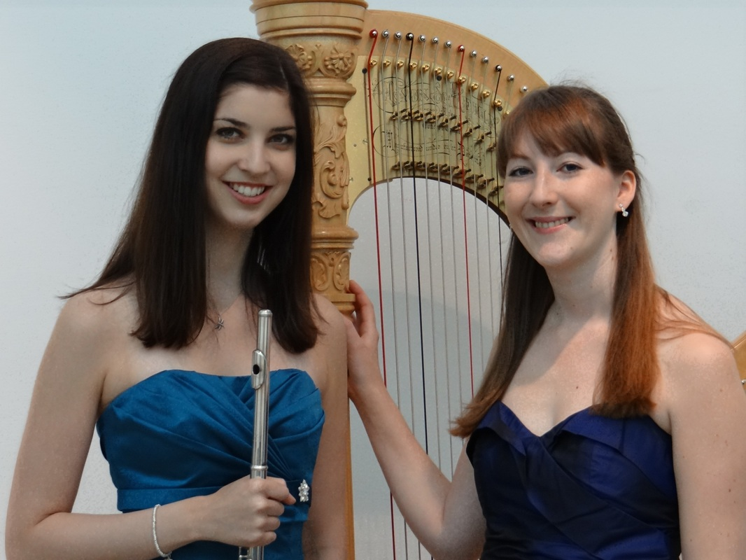 Acacia Duo, Samantha Pearce, flute, Heather Wrighton, harp