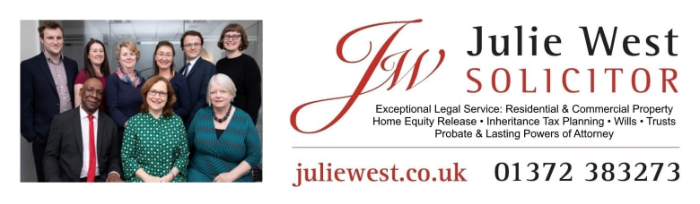 Julie West Solicitor, property conveyancing specialists. 4 Axis Centre, Leatherhead KT22 7RD, 01372 383273