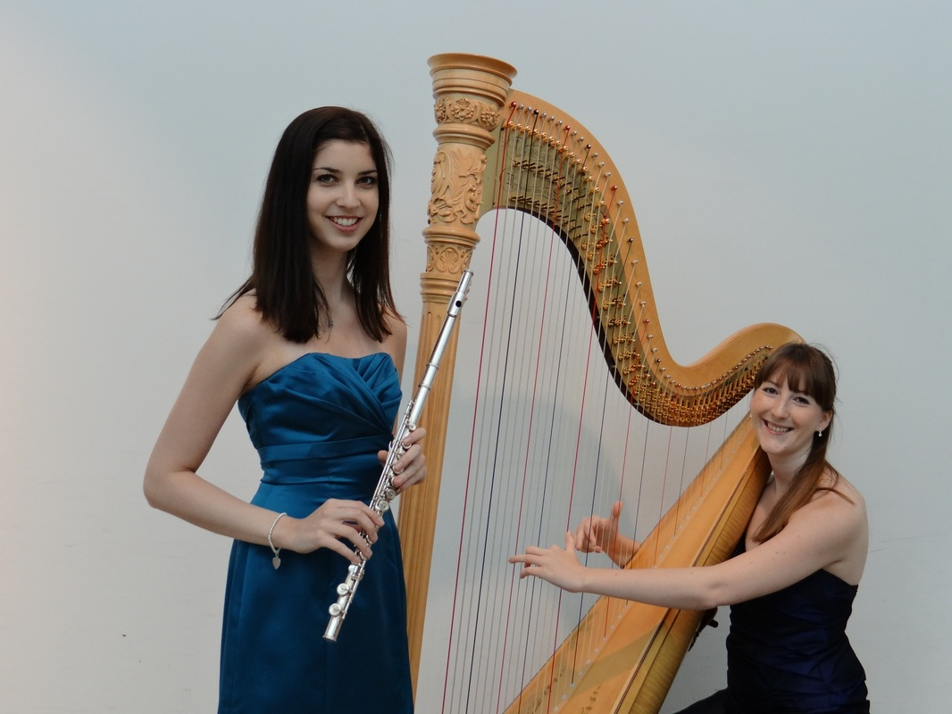 Acacia Duo Samantha Pearce flute flautist and Heather Wrighton harp harpist
