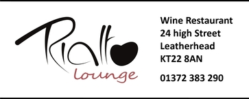 Rialto Lounge Wine Restaurant High Street Leatherhead KT22 8AN