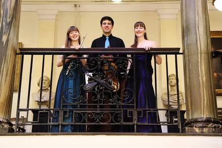 Aurora Trio, Emma Halnan, flute, Joe Bronstein, viola, Heather Wrighton, harp