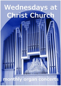 Wednesdays at Christ Church, organ concerts, 12.30, lunchtime, Leatherhead,