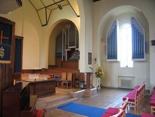Hill Norman and Beard Pipe Organ, Christ Church Unted Reformed, Epsom Road Leatherhead KT22