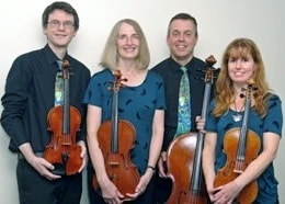 Hammig String Quartet, David Burton, Sarah Colley, violin, Jane Tyler, viola, Sean Turpin, cello,