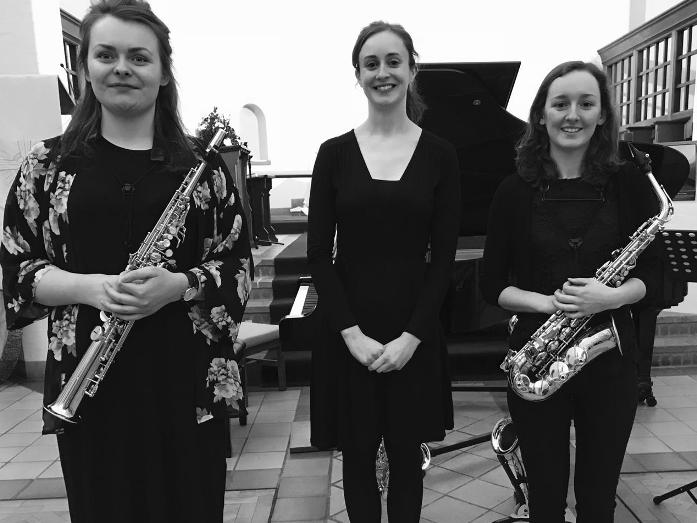 Kassia Trio: Chloe Percy, Emma Jones, saxophone, Amy Bladon, piano