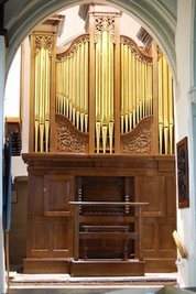 1766 Thomas Parker Organ, restored by Goetze & Gwynn, Leatherhead Parish Church, Surrey, England, KT22 8BD