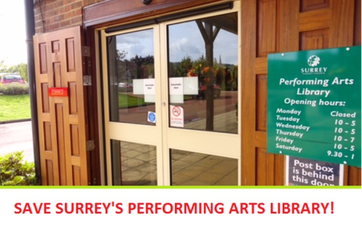 Save Surrey Performing Arts Library, Denbies Wine Estate, Pixham, Dorking,