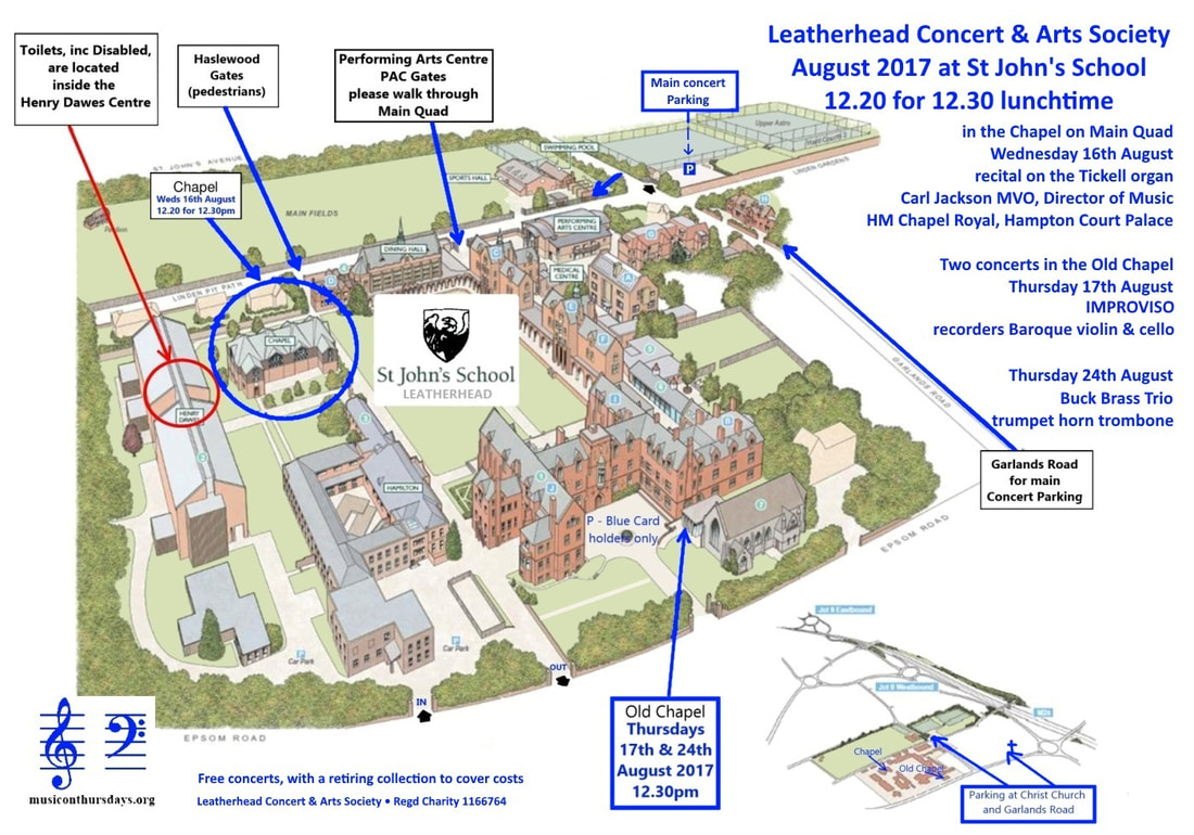 Map of St John's School, showing access, parking & New Chapel,