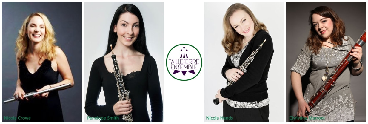 Tailleferre Ensemble, Nicola Crowe, flute, Penelope Smith, oboe, Nicola Hands, oboe, Christina Marroni, bassoon,