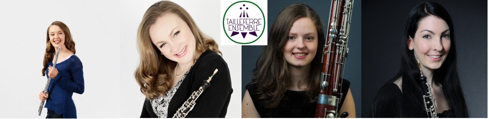 Tailleferre Ensemble, Emma Halnan, flute, Nicola Hands, Penelope Smith, oboe / cor anglais. Amy Thompson, bassoon.